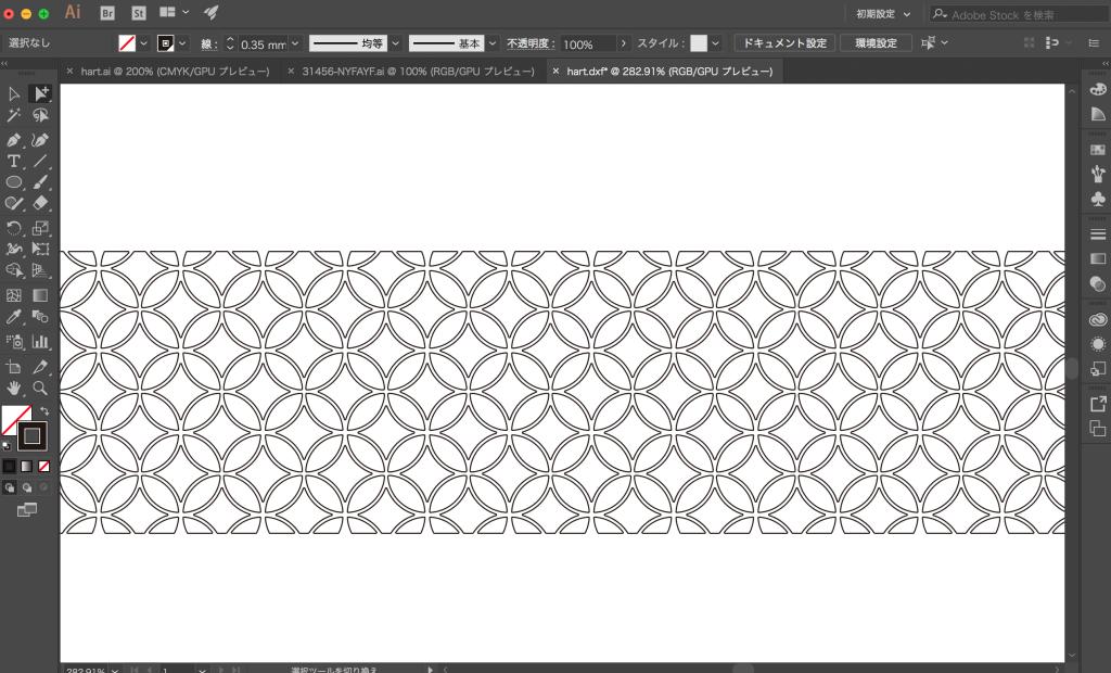 イラストレーターでパターンを作成