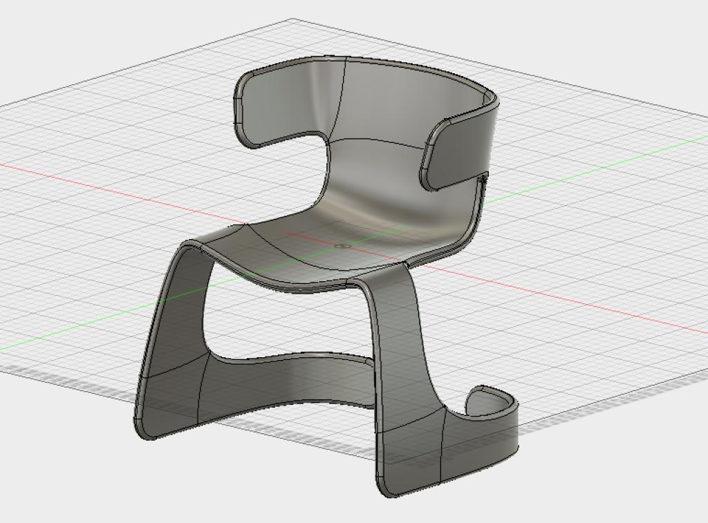 モダンな椅子のモデルが完成