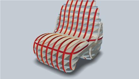 Fusion360のスライサーで作ったソファ