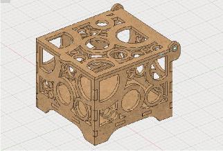 Fusion360で設計したレーザーカッター モデル