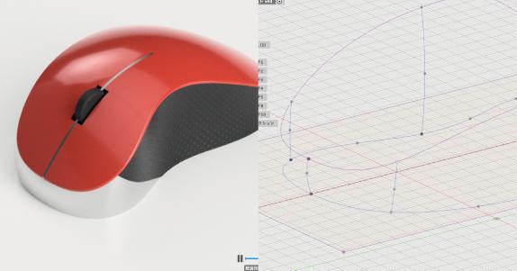 Fusion360のパッチワークでマウスを作る