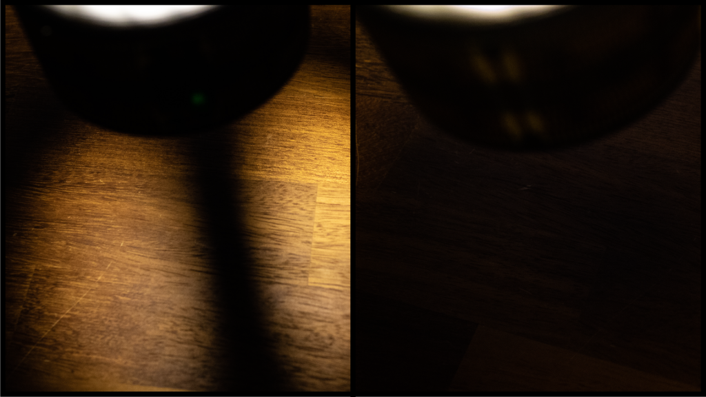 左:開けた状態 右:空いて無い状態