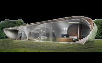 3Dプリンターの家Curve Appeal