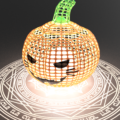 魔法でかぼちゃを呼び出す
