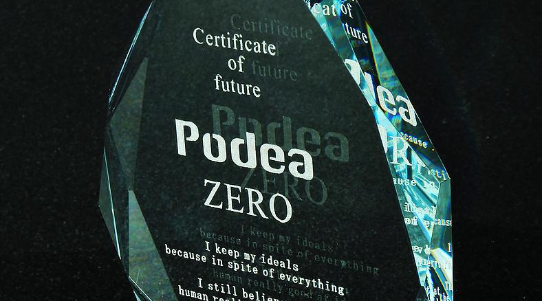Podea ZERO の加工例 ガラス彫刻