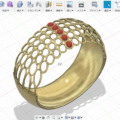 Fsuion360の網目指輪