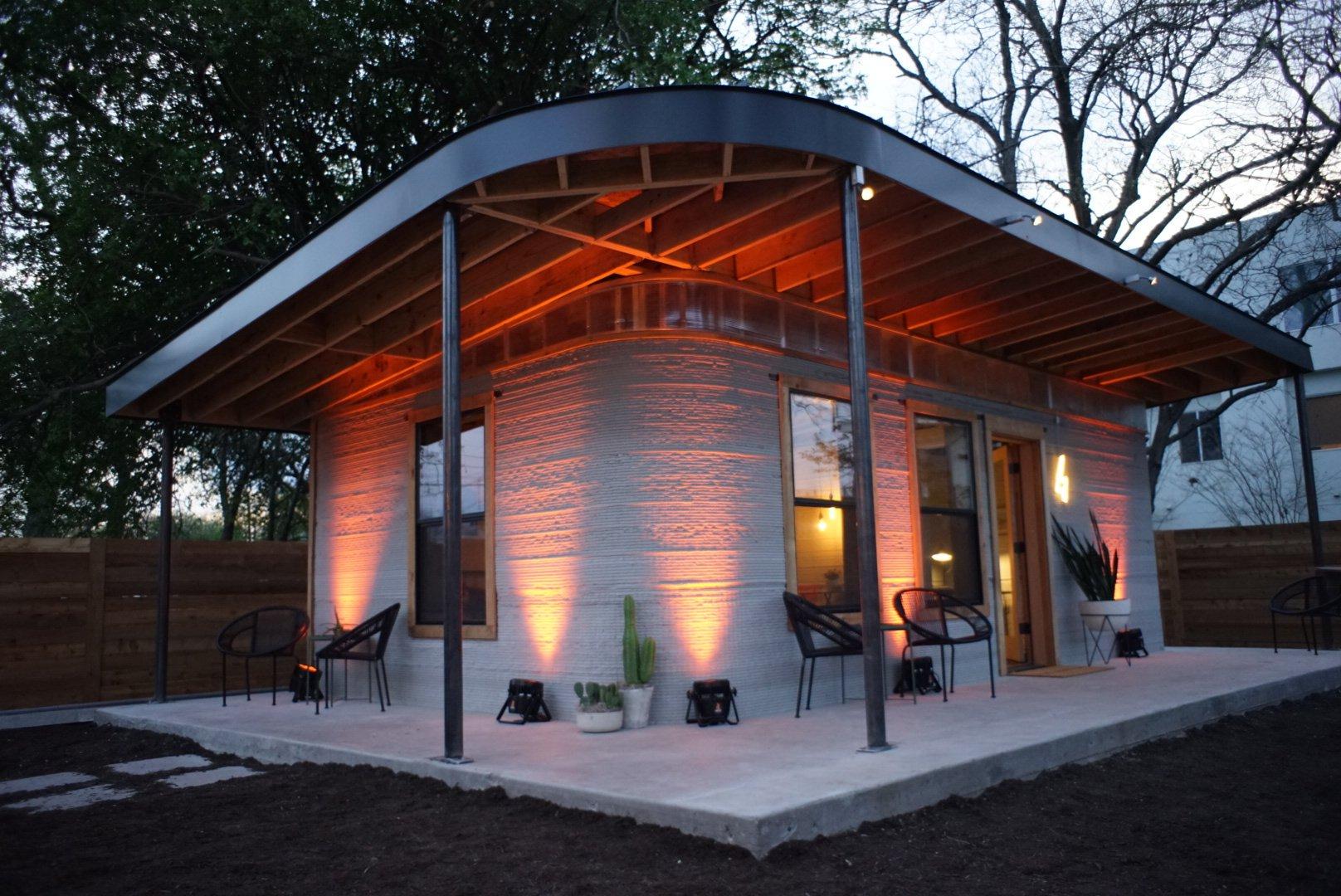 3Dプリンターの住宅の外観