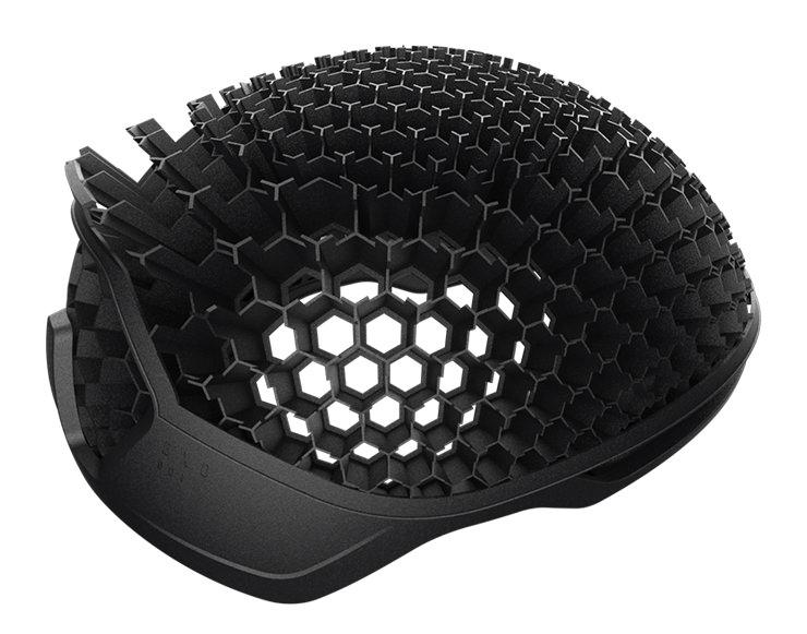 3Dプリント自転車ヘルメットのハニカム構造