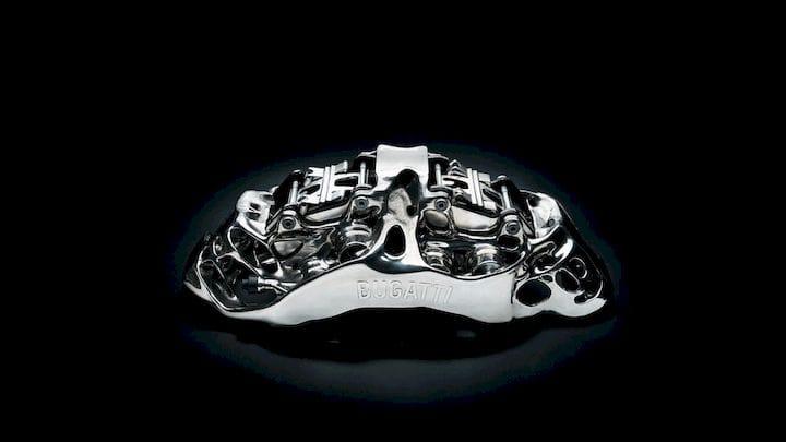 ブガッティのLa Voiture Noireに搭載されていると考えられている3Dプリントのブレーキキャリパー