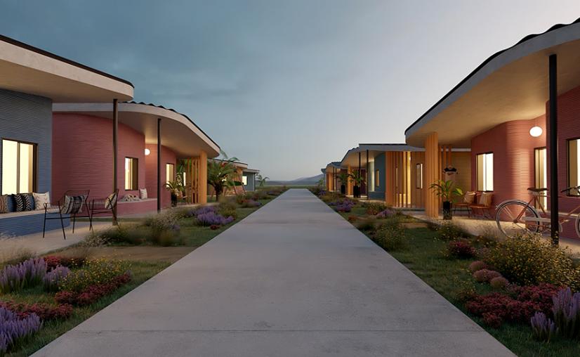 出典:fuseproject ラテンアメリカでの3Dプリント住宅
