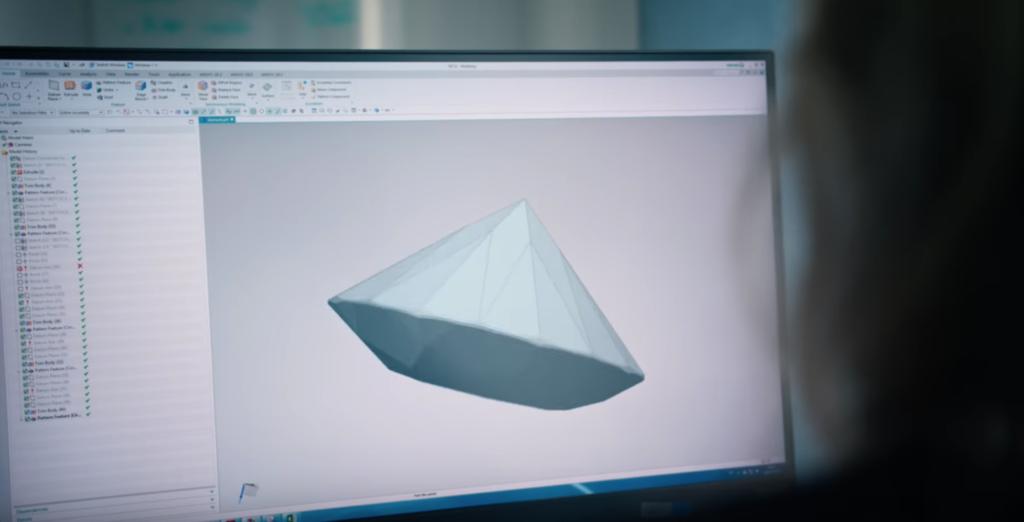 ダイヤモンドの3Dデータ 出典:サンドビック社HP