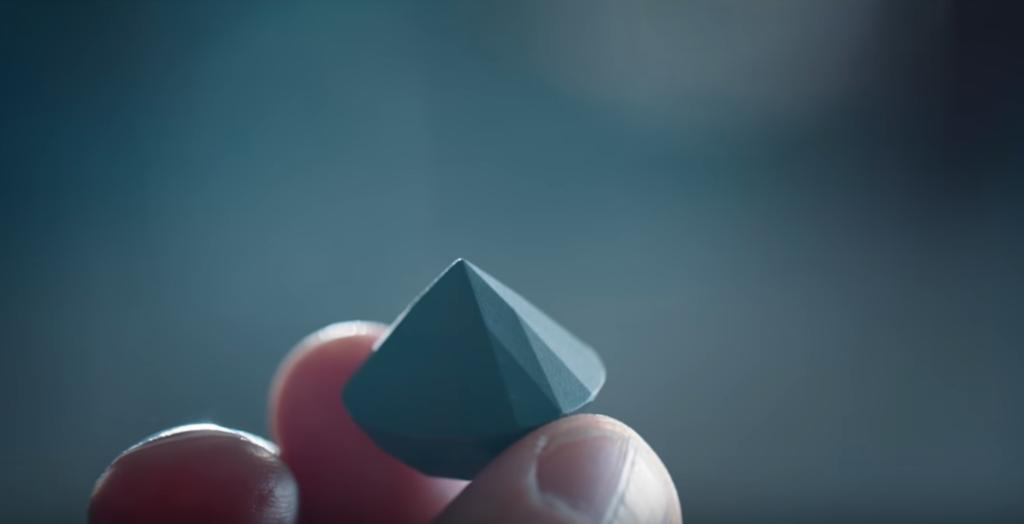 後処理された3Dプリントダイヤモンド 出典:サンドビック社HP