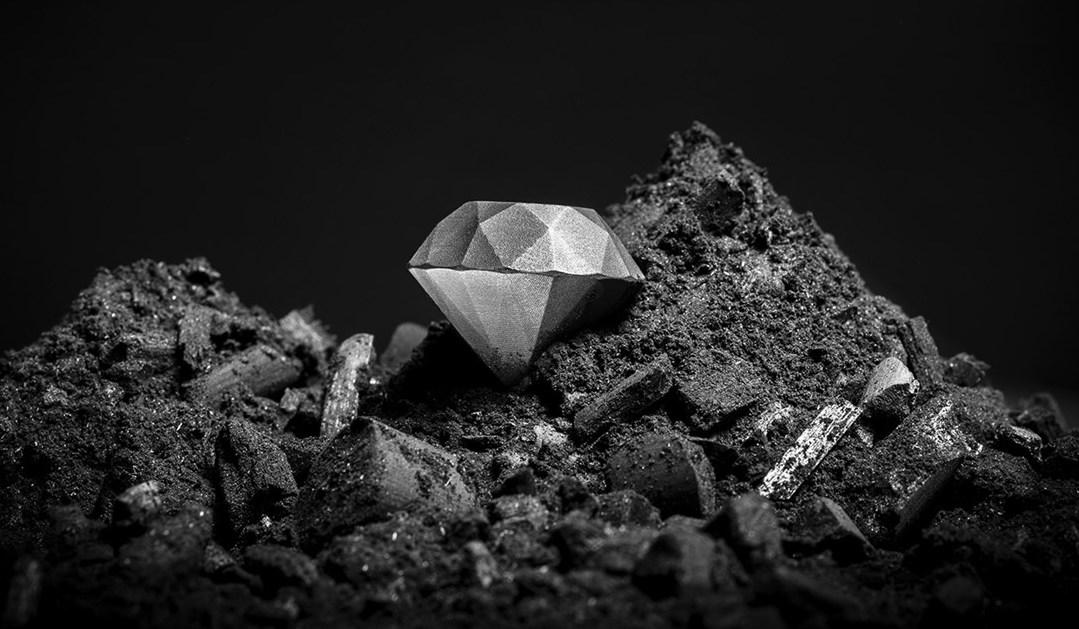 史上初の3Dプリントされたダイヤモンド  出典:サンドビック社HP
