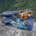 ロッククライミング用の寝袋