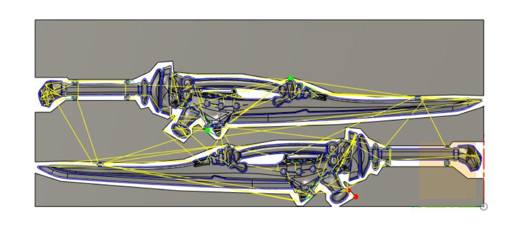 ペンシル加工 Φ6mmボールエンドミル クーラントなし 送り速度1440mm/min 切削ピッチ0.4mm