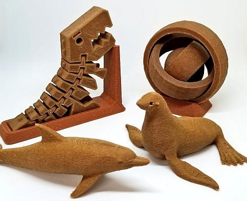 木質フィラメントで、木彫が表現できる