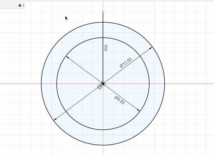 リングを分割する直線を描く