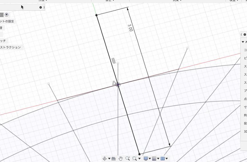 垂直な線を描く