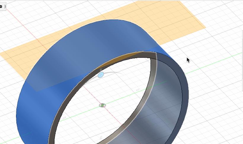 接平面でリングに面する作業面を作る