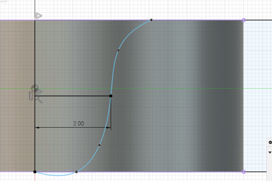 モコモコの元になる線をスプラインで描く