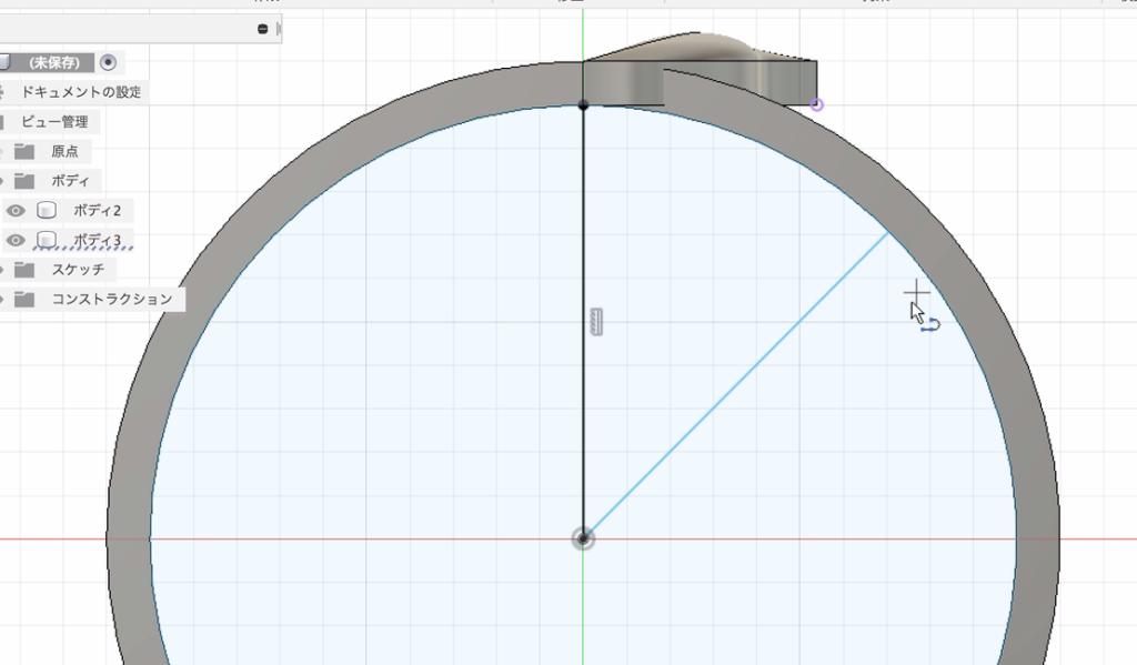 円の内側にスケッチを描く