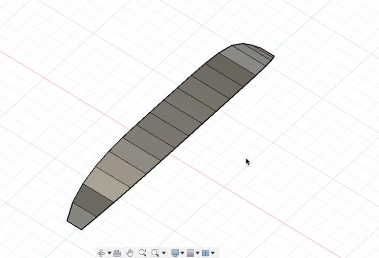 余計な面を削除して、ラインに沿った面ができる
