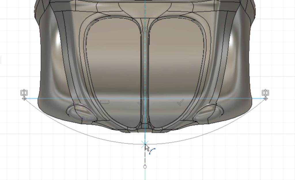 car03-26 バンパーのスケッチを描く