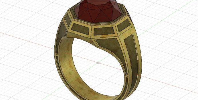 Fusion360で作った六角の指輪
