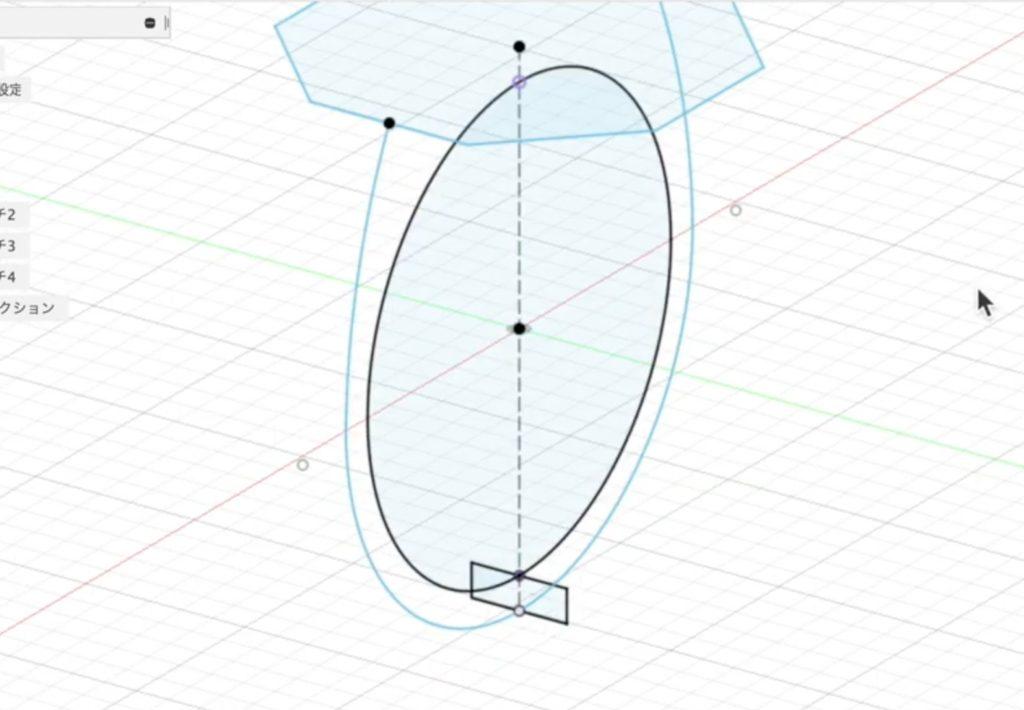ro08 リングの内と外に長方形を描く