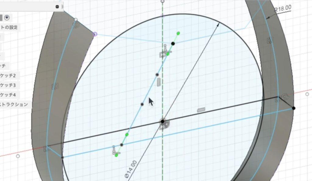 ro12 スプラインに点を追加する